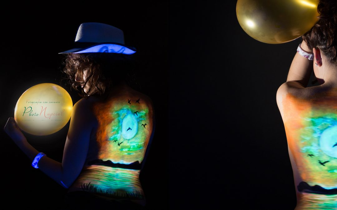 Body Paint con luz oscura