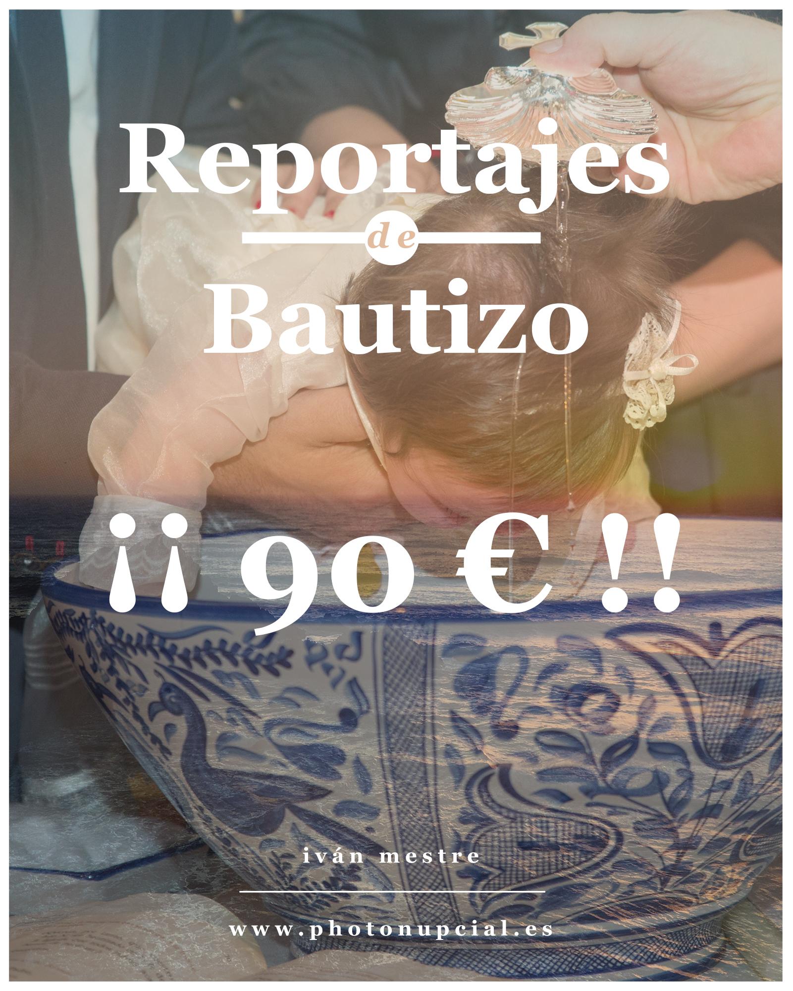 Reportaje de bautizo por 90 €